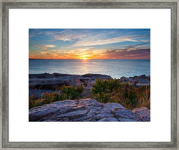 Sunrise At Otter Cliffs Framed Print