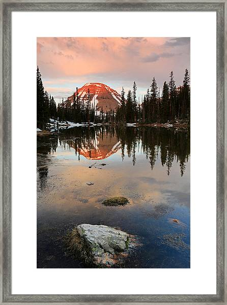 Sunrise At Picturesque Lake. Framed Print