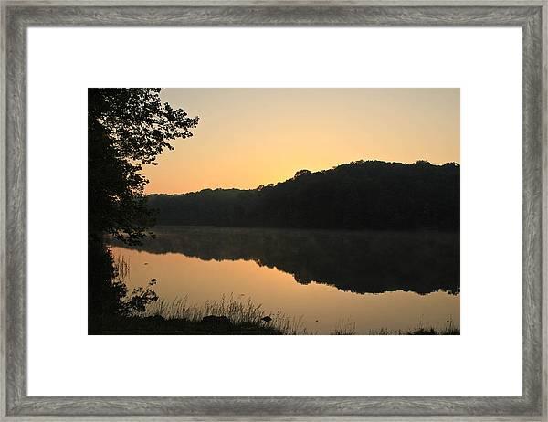 Sunrise At Rose Lake Framed Print