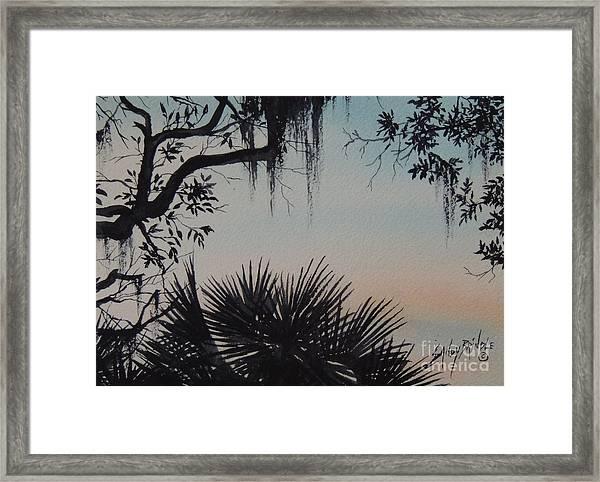 Sunrise At Shellmans Bluff Framed Print