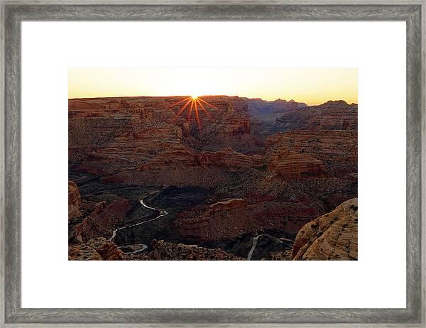 Sunrise At The Wedge Framed Print