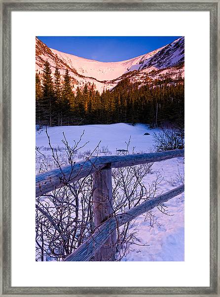Sunrise At Tuckerman's With Fence 2 Framed Print