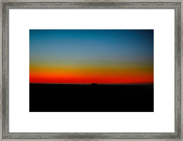 Sunrise At Turkey Point Dividing Creek New Jersey Framed Print