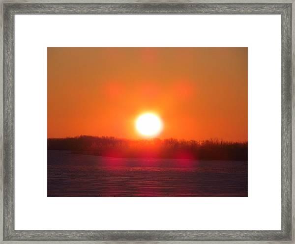 Sunrise At Wroxton Framed Print