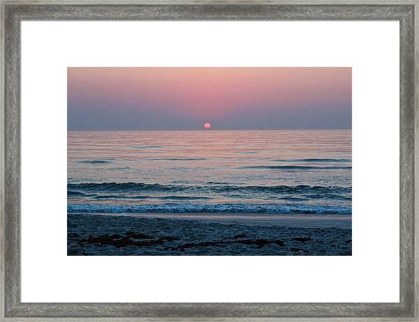 Sunrise Blush Framed Print