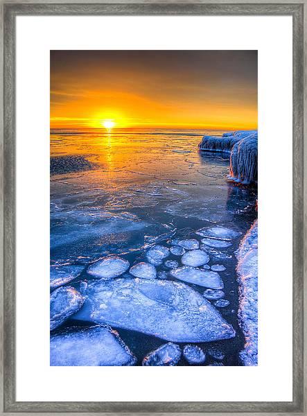 Sunrise Chicago Lake Michigan 1-30-14 02 Framed Print by Michael  Bennett