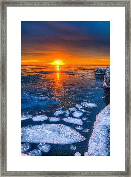 Sunrise Chicago Lake Michigan 1-30-14 04 Framed Print by Michael  Bennett