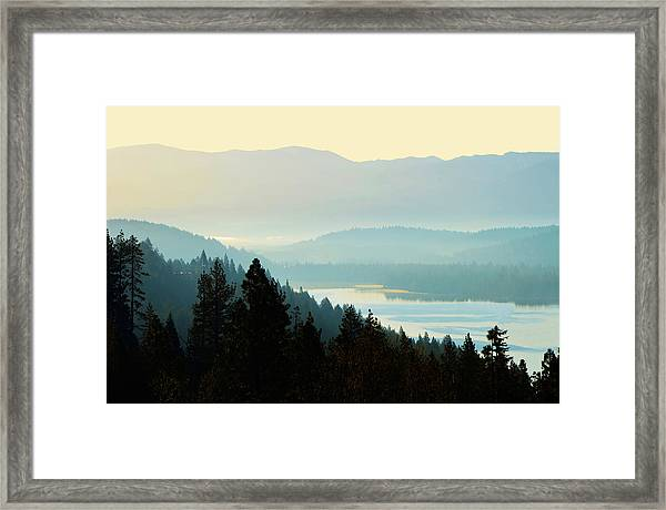 Sunrise Donner Lake California Framed Print