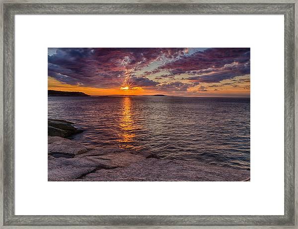 Sunrise Drama Acadia National Park Framed Print