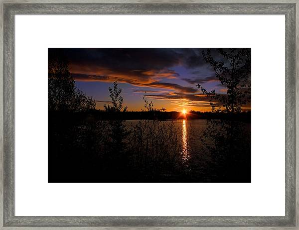 Sunrise Fairbanks Alaska Framed Print