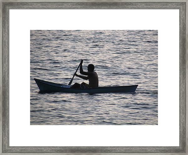 Sunrise Fisherman Framed Print