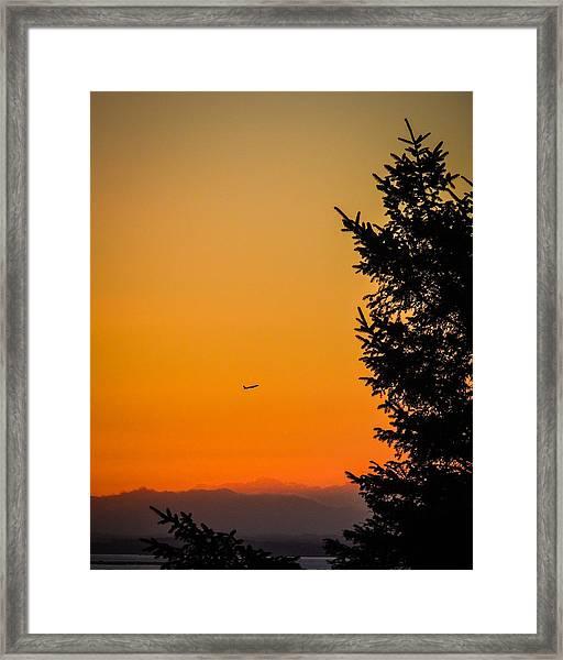 Sunrise Flight Departing Shannon Airport Framed Print