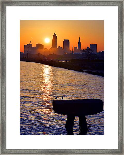Sunrise From Edgewater Framed Print