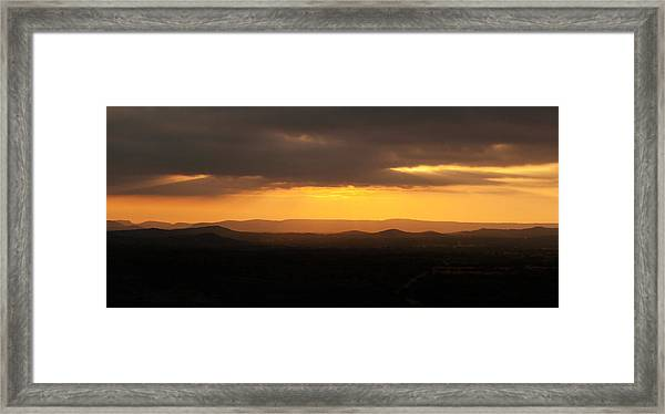 Sunrise From Enchanted Rock Framed Print