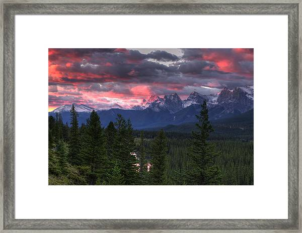 Sunrise In Banff Framed Print
