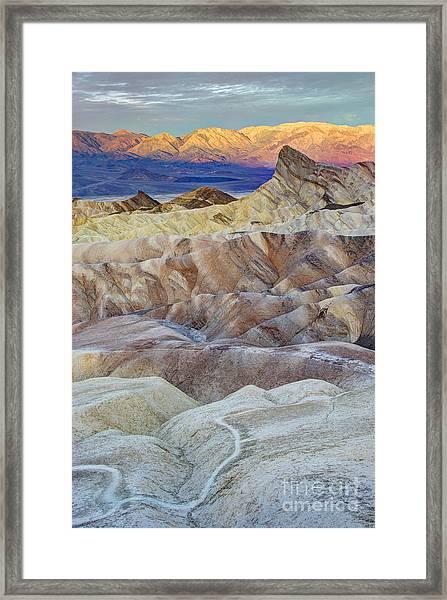 Sunrise In Death Valley Framed Print