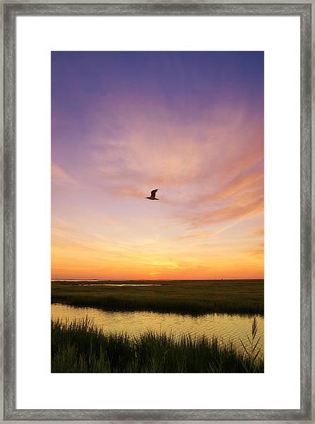 Sunrise In Jersey 5 Framed Print