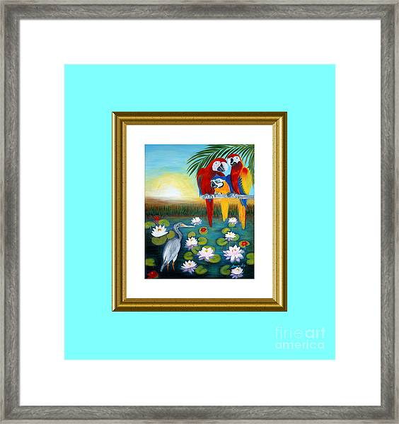 Sunrise In Paradise. Inspiration Collection Framed Print