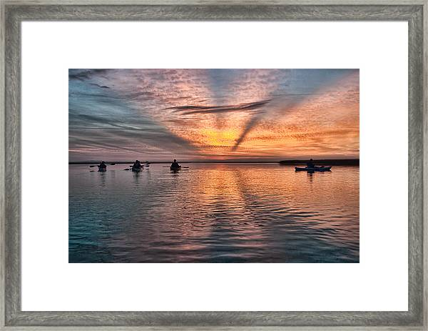 Sunrise Kayaking Framed Print