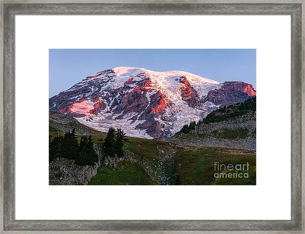 Sunrise Mt Rainier Framed Print