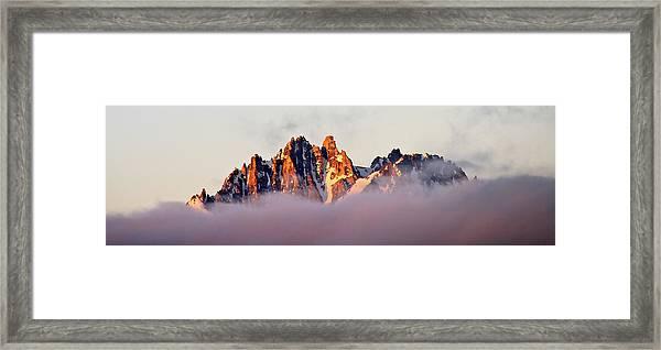 Sunrise On An Island In The Sky Framed Print