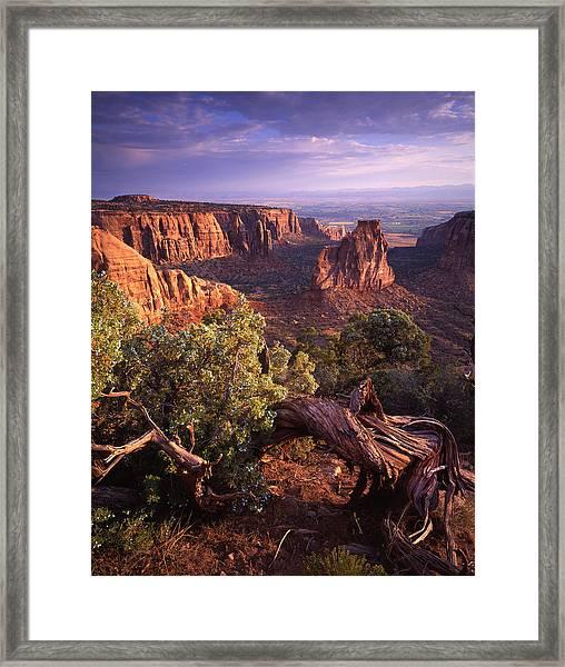 Sunrise On Independence Framed Print