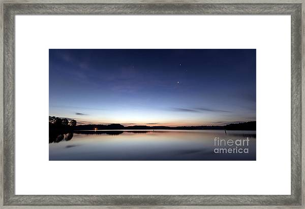 Sunrise On Lake Lanier Framed Print