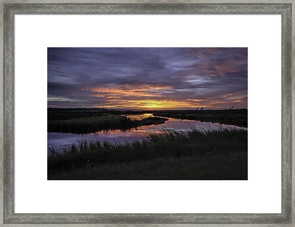 Sunrise On Lake Shelby Framed Print