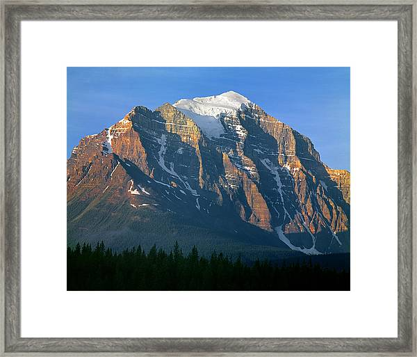 1m3518-sunrise On Mt. Temple Framed Print