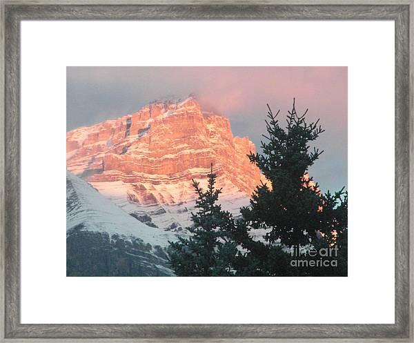 Sunrise On The Mountain Framed Print