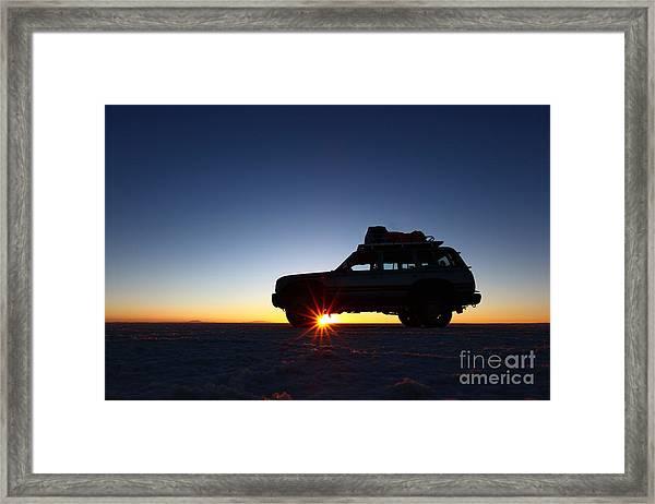 Sunrise On The Salar De Uyuni Framed Print