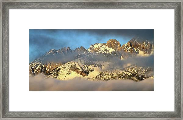 Sunrise On Thompson Peak Framed Print