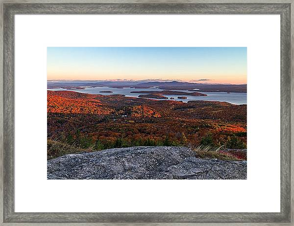 Sunrise Over Alton Bay Framed Print