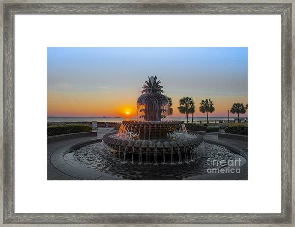 Sunrise Over Charleston Framed Print