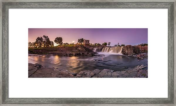 Sunrise Over Falls Park Framed Print