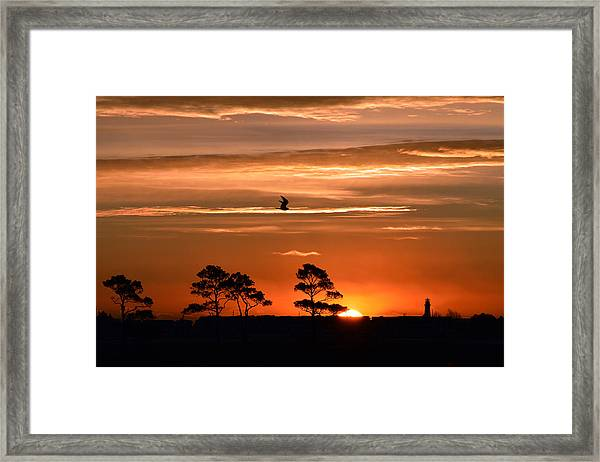 Sunrise Over Fenwick Island Framed Print