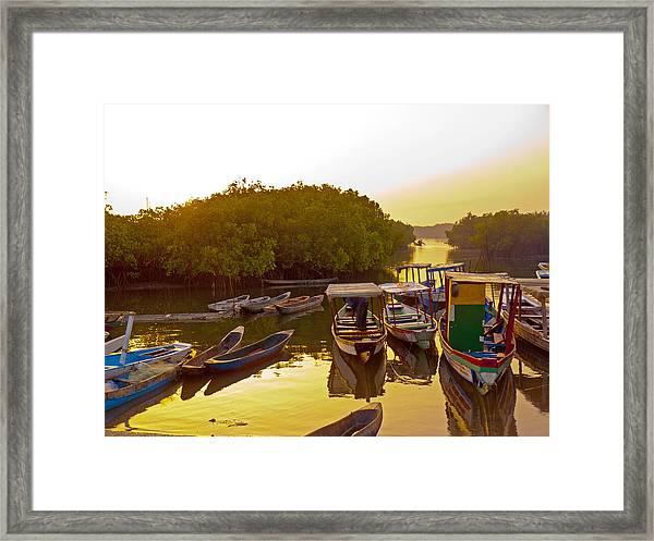Sunrise Over Gambian Creek Framed Print