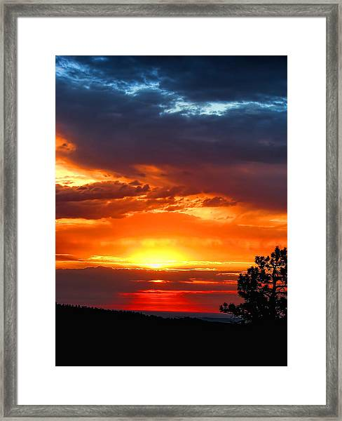 Sunrise Over Keystone Framed Print