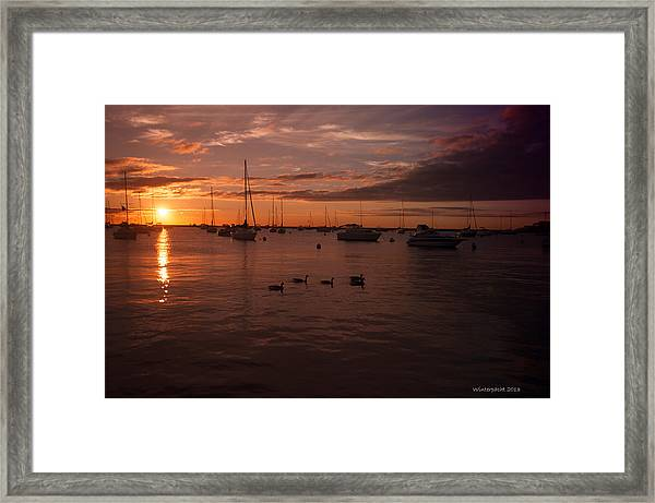 Sunrise Over Lake Michigan Framed Print