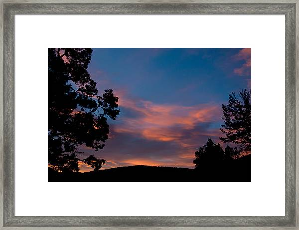 Sunrise Over Mammoth Campground Framed Print