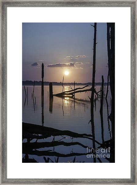 Sunrise Over Manasquan Reservoir Framed Print