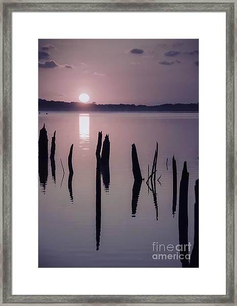 Sunrise Over Manasquan Reservoir Iv Framed Print