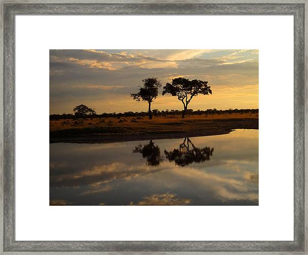 Sunrise Over Savuti Park Framed Print