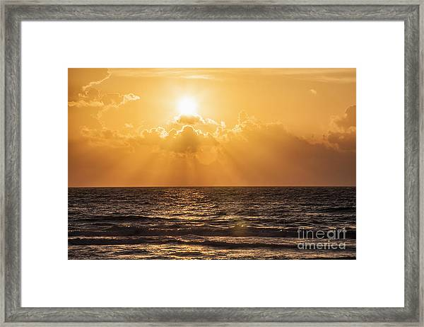 Sunrise Over The Caribbean Sea Framed Print