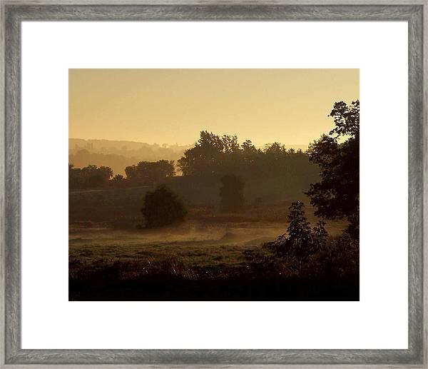 Sunrise Over The Mist Framed Print