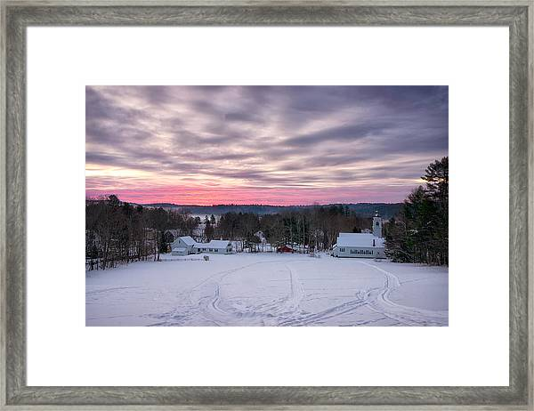 Sunrise Over The Village Framed Print