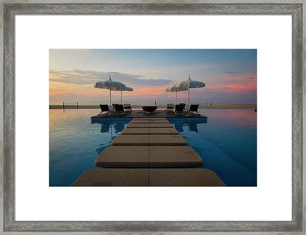 Sunrise Over Tourist Resort, San Jose Framed Print