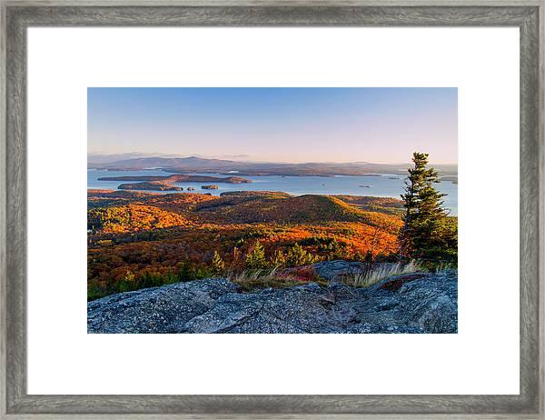 Sunrise Over Winnipesaukee. Framed Print