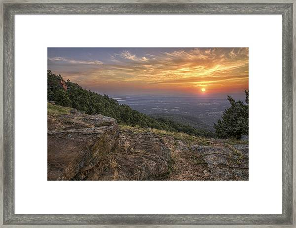 Sunrise Point From Mt. Nebo - Arkansas Framed Print
