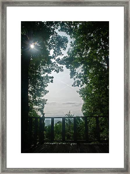 Sunrise Portal Framed Print